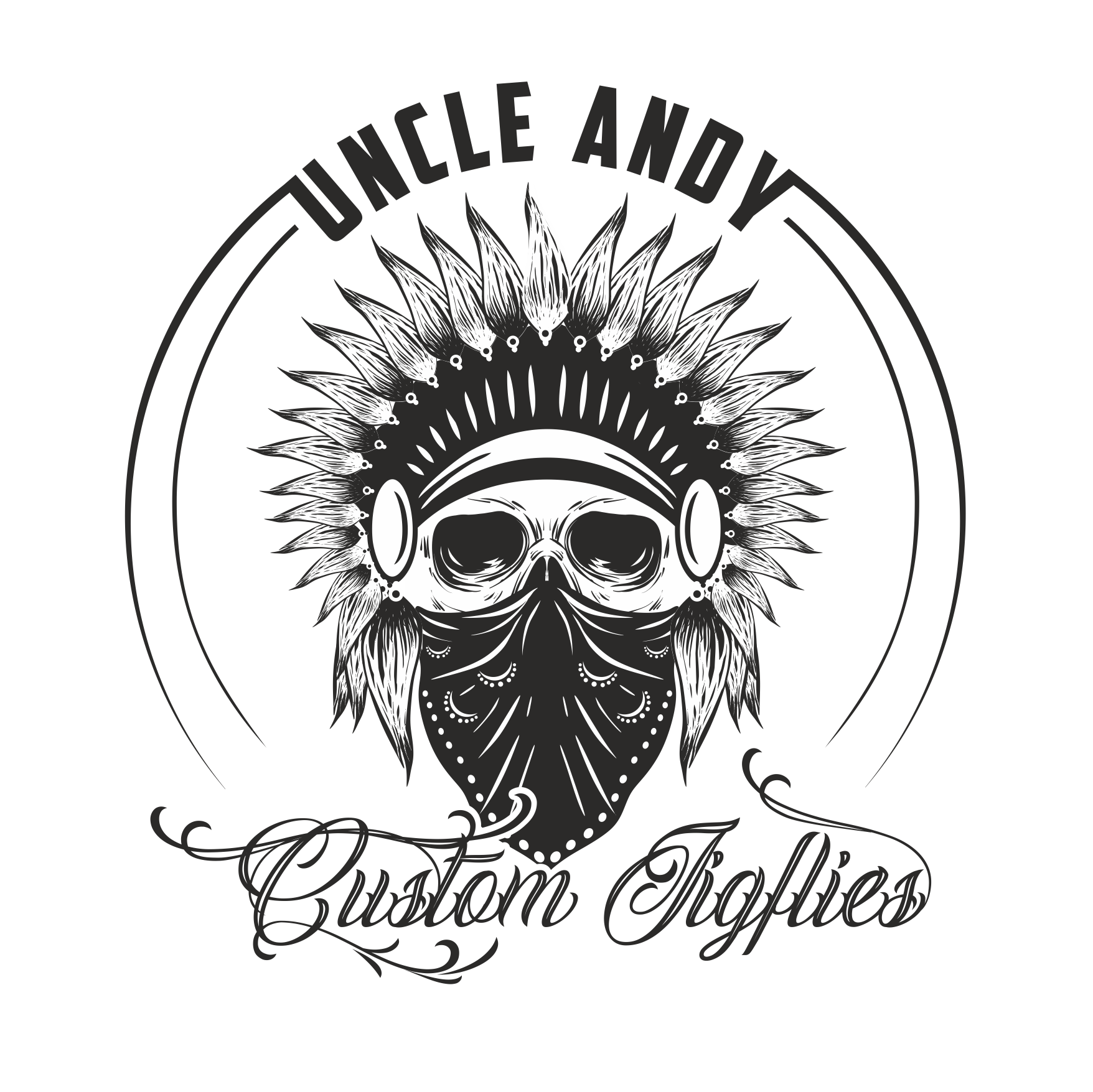 Uncle Andy Custom Lures logo monochrom
